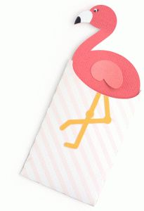 Silhouette Design Store - View Design #86014: flamingo gift card envelope