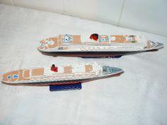 Scale Model Ships, Scale Models, Queen Mary, Queen Elizabeth, 2 Set, Skateboard, Skateboarding, Skate Board, Scale Model