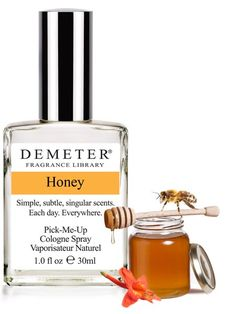 Honey - We think this scent is lick-able; just sex in a bottle. Sugary dripping nectar, the result of the love affair between blossoms and bees. Reviewers say smells like real honey, if you like that