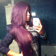 long purple hair.....this is wat I want!!! Must have!!!!