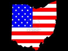 Map of the State of Ohio