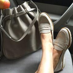 Instagram: Shop Gleat #dunelondon #dune #shoes #loafer #fashion #style #grey