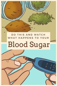 Do this and watch what happens to your blood sugar. Great advice for when SHTF and you have to go the natural route.