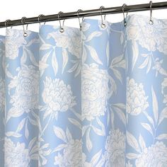 Park B. Smith® Peony Sky 72-Inch x 72-Inch Watershed® Shower Curtain - BedBathandBeyond.com