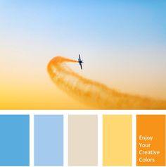 Color Palette - Million Shade Beach Color Palettes, House Color Palettes, Orange Color Palettes, Bright Color Schemes, Paint Color Palettes, Paint Color Schemes, Blue Colour Palette, Web Design, Graphic Design