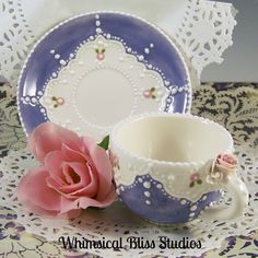 Whimsical Bliss Studios - Periwinkle Cup & Saucer