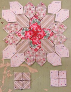 Lucy Boston Patchwork of the Crosses summer cottage block kit #17
