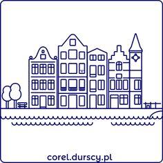 Amsterdam 1/3 #1 #corel_durscy_pl #durskirysuje #corel #coreldraw #vector #vectorart #illustration #draw #art #digitalart #graphics #flatdesign #flatdesign #icon #dom #domek #apartament #home #house #residence #apartments #amsterdam #holandia #holland #tryptyk #triptych Amsterdam Houses, Home Logo, Triptych, Coreldraw, Vector Art, Apartments, Holland, Cool Art, Digital Art