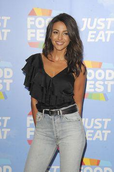 Michelle Keegan at Just Eat Food Celebration: Fantasy Fusions VIP Launch in London Jean Shirt Outfits, Girl Outfits, Michelle Keegan, Most Beautiful Faces, Beautiful Women, Coronation Street, Brunette Beauty, Celebs, Celebrities