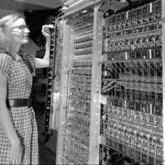MANIAC 1, the first digital computer at Los Alamos (1952).
