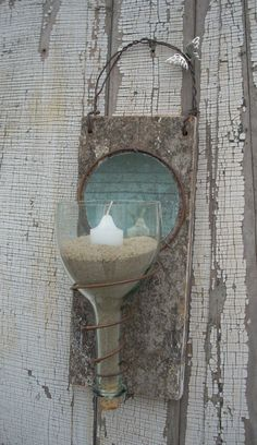 Rustic Recycled Wine Bottle