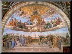 Disputation of the Eucharist Wall Plaque