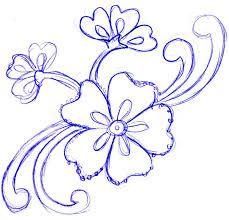 Resultado de imagem para flower drawings