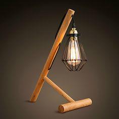 Madera/ Bambú - Lámparas de Mesa Moderno/ Contemporáneo/Novedad – EUR € 139.99