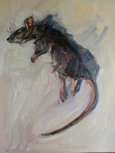 Ratty. Oil on Board Eugene Conway.