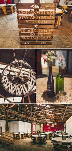 Omg. This wedding seeping with style. Palettes, DIY wine bottles, mix n match dresses, Owls! Cc @Kaitlyn Dennihy @Kelly Morgan @Rene Smith