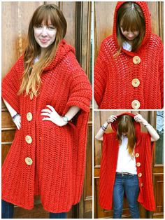 Crochet Hooded Poncho - 50 Free Crochet Poncho Patterns for All - Page 2 of 9 - DIY & Crafts