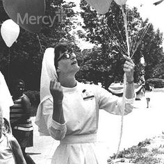 This is Sr. Roch, helping celebrate #Mercy Week in St. Louis when she was the hospital administrator, around 1967. #throwbackthursday #tbt