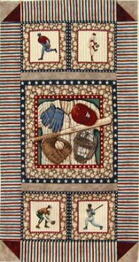 Baseball quilt kit! #quilt #quilting Quilting Projects, Sewing Projects, Quilting Ideas, Quilt Kits, Quilt Blocks, Baseball Quilt, Sports Quilts, Hawaiian Quilts, Boy Quilts