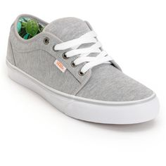 Vans Chukka Low Grey Jersey Hawaii Mint Skate Shoes ($65) ❤ liked on Polyvore