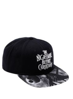 046b6e257db The Nightmare Before Christmas Logo Snapback Hat · Black Snapback HatsCulottesBeanie  ...