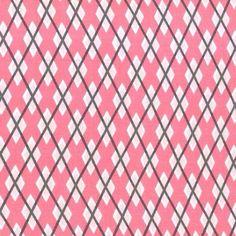 Argyle Me Pink Girl Michael Miller Fabric Choose by BellaFabrics