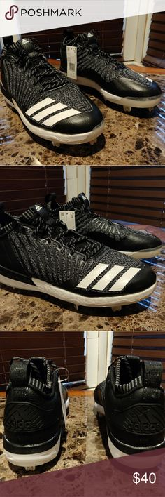 79321fa7 Adidas Boost Icon 3 Metal Baseball Cleats Adidas Boost Icon 3 Metal  Baseball Cleats Knit Black White Men Size Brand new with tags and no box.