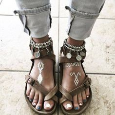 Israeli boho summer sandals from with.love...