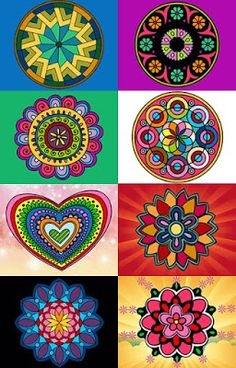 colors in flowers madelia hearts Mandala Art, Mandala Painting, Dot Painting, Painted Rocks, Hand Painted, Funky Painted Furniture, Painted Chairs, Graffiti, Arte Country