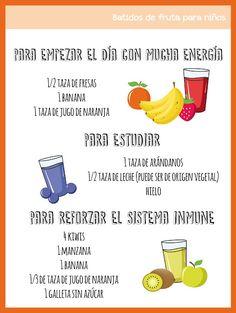 5 batidos de fruta para niños en menos de 5 minutos ~ NATÚ
