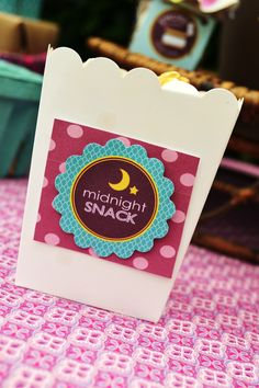 """""""Midnight Snacks"""" for sleepover party <3"""
