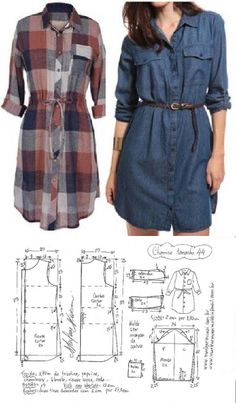 Saia com pregas macho fácil de fazer Tunic Sewing Patterns, Girl Dress Patterns, Sewing Blouses, Blouse Patterns, Clothing Patterns, Blouse Designs, Skirt Patterns, Coat Patterns, Make Your Own Clothes