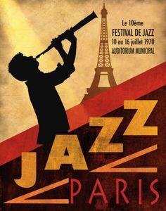Jazz in Paris, 1970 Print by Conrad Knutsen at Art.com