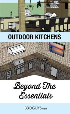Beyond the Essentials Sketch Up Designs Building an outdoor kitchen and want to go beyond the essentials? Our design experts can sketch your outdoor space and show you just what you can fit. Build Outdoor Kitchen, Outdoor Kitchen Design, Outdoor Rooms, Outdoor Refrigerator, Kitchen Gallery, Backyard, Patio, The Essential, Room Essentials