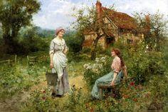 """Henry John Yeend King (Londres, Inglaterra, 21 de agosto de 1855 – 10 de junho de 1924) - """"Gossips"""""""