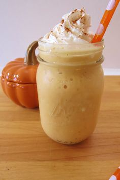 Homemade #Starbucks Grande Light Pumpkin Spice Frappuccino Calories: 45.6, Fat: 2.6, Sodium: 8,9, Potassium: 35.6, Carbs: 3.9, Fiber: 1.2, Sugar: 2.2, Protein: 1.1