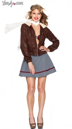 Take control of the flight with these sexy airplane pilot costumes from Yandy. Yandy has all your pilot costume needs and wants this Halloween season. Sexy Halloween Costumes, Carnival Costumes, Cosplay Costumes, Pilot Costumes, Halloween Stuff, Halloween Makeup, Halloween Ideas, Amelia Earhart Costume