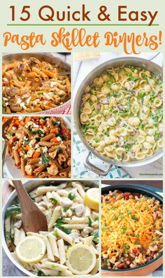 If you love carbs and quick recipes, you are in luck because today I'm bringing you some tasty and quick Pasta Skillet Recipes for dinner in a hurry!