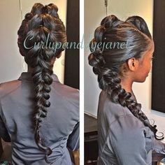 STYLIST FEATURE| Gorgeous #fishtailbraid done by #LosAngelesStylist @curlupanddyejanet❤️ Effortless glamour #VoiceOfHair ========================= Go to VoiceOfHair.com ========================= Find hairstyles and hair tips! =========================