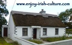 Thatched Irish cottage near Galway City, Ireland