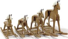 Amish crafted rocking horses. It's not too early to order one of these for an awesome Christmas present..