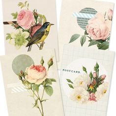 Flowers Digital PDF ACEO Tags for Download and by tabithaemma, $5.00