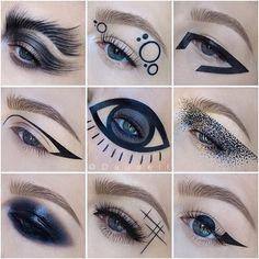 Hair and beauty – makeup eyeliner Drag Makeup, Fx Makeup, Cosplay Makeup, Makeup Goals, Costume Makeup, Makeup Inspo, Goth Makeup, Makeup Inspiration, Black Makeup