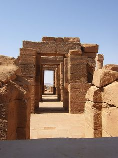 Naqa or Naga'a (Arabic: النقعة an-Naqʿa) is a ruined ancient city of the Kushitic Kingdom of Meroë in modern-day Sudan. The ancient city lies about 170 kilometers north-east of Khartoum and about 50 kilometers east of the Nile River. The site has two notable temples, one devoted to Amun and the other to Apedemak which also has a Roman kiosk nearby.