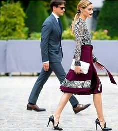Couple with style @oliviapalermo and @johanneshuebl #pfw