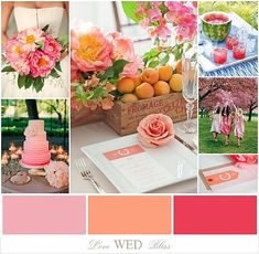 Love Wed Bliss inspiration board: pink, peach & melon #weddings