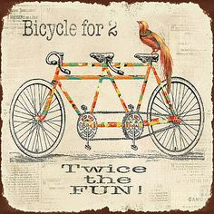 Bicycle for 2 by Jean Plout