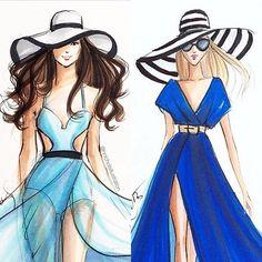 hnicholsillustration: Cabana blues  #fashionsketch #fashionillustrator #fashionillustration #resort
