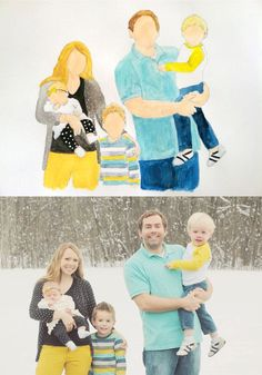 My super talented friend does Custom Watercolor Family Portraits for $30. I LOVE ours!!