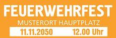 Personalisierte Bannerwerbung für Ihre Veranstaltung einfach online gestalten von #onlineprintxxl #feuerwehrfest #festival #onlinebanner #feuerbanner